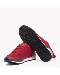 Tommy Hilfiger Red Neoprene Low-cut Trainers for men