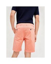 Tommy Hilfiger Slim Fit Short Van Stretchkatoen in het Pink voor heren