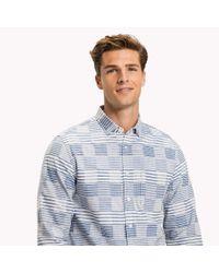 Tommy Hilfiger Blue Irregular Slim Fit Stripe Shirt for men