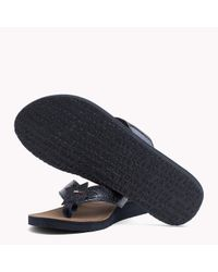 Tommy Hilfiger Blue Metallic Beach Sandals