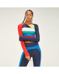 Tommy Hilfiger Red Multicolour Cropped Top