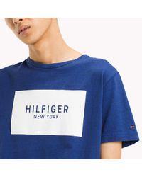 Tommy Hilfiger Blue Regular Fit Logo T-shirt for men