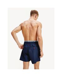 Tommy Hilfiger Blue Double Waistband Swim Shorts for men