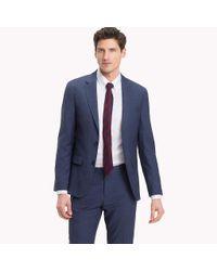 Tommy Hilfiger Blue Houndstooth Suit Separate Blazer for men