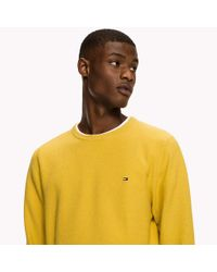 Tommy Hilfiger Yellow Ricecorn Crew Neck Jumper for men