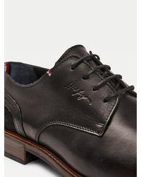 Chaussures Elevated en cuir et daim Tommy Hilfiger pour homme en coloris Black