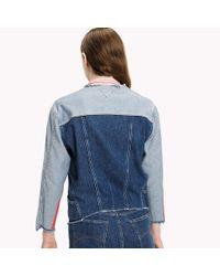 Tommy Hilfiger Blue Denim Patchwork Jacket