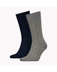 Tommy Hilfiger Blue 2-pack Polka Dot Socks for men