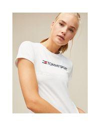 Tommy Hilfiger White Logo Crew Neck T-shirt