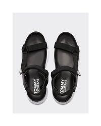 Tommy Hilfiger Black Chunky Logo Sandals for men