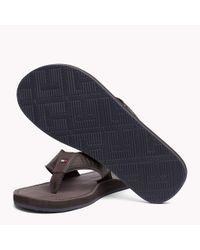 Tommy Hilfiger Multicolor Leather Flip-flops for men