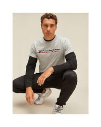 Tommy Hilfiger Gray Chest Logo T-shirt for men