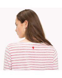 Tommy Hilfiger Multicolor Slogan Three Quarter Sleeve T-shirt