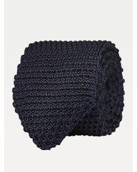 Cravate en tricot de soie Tommy Hilfiger pour homme en coloris Blue