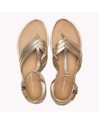 Tommy Hilfiger Metallic T-bar Sandals