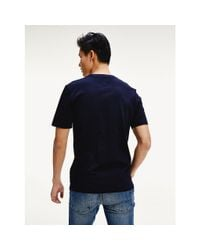 Tommy Hilfiger Blue Signature Tape Relaxed Fit T-shirt for men