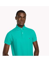 Tommy Hilfiger Green Slim Fit Polo Shirt for men