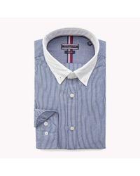 Tommy Hilfiger Blue Washed Slim Fit Shirt for men
