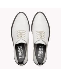 Tommy Hilfiger White Leather Lace-up Shoes