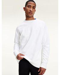 Tommy Hilfiger Statement Sweatshirt Met Logo In Reliëf in het White voor heren