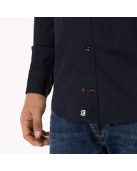 Tommy Hilfiger Blue Slim Fit Stretch Cotton Shirt for men