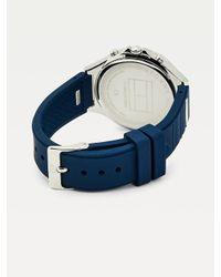 Montre multifonction bleu marine Tommy Hilfiger en coloris Blue