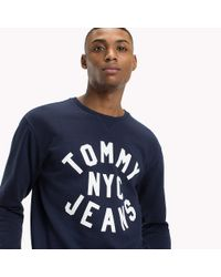Tommy Hilfiger Blue Graphic Relaxed Fit Sweatshirt for men