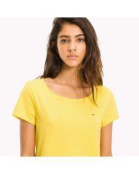 Tommy Hilfiger Yellow Organic Cotton Jersey T-shirt