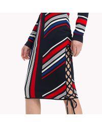 Tommy Hilfiger Blue Gigi Hadid Speed Striped Skirt