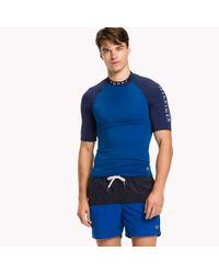 Tommy Hilfiger Blue Swim Rash Guard for men