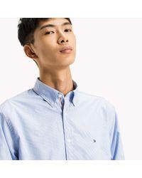 Tommy Hilfiger Blue Fine Stripe Slim Fit Shirt for men