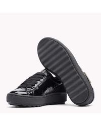 Tommy Hilfiger Black Patent Leather Sneaker