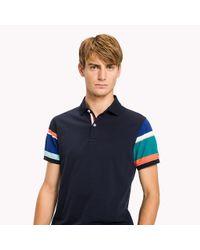 Tommy Hilfiger Blue Sleeve Stripe Polo for men