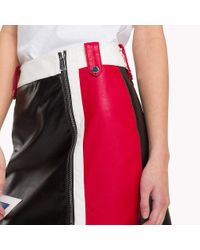Tommy Hilfiger Black Faux Leather Mini Skirt