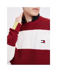 Tommy Hilfiger Red Stripe Organic Cotton Jumper for men