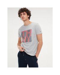 Tommy Hilfiger Multicolor Stripe Logo T-shirt for men