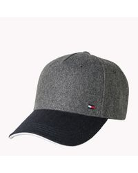 Tommy Hilfiger Gray Felted Wool Cap for men