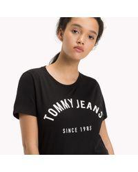 Tommy Hilfiger Black Organic Cotton Blend T-shirt