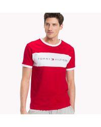 Tommy Hilfiger Red Cotton Lounge T-shirt for men