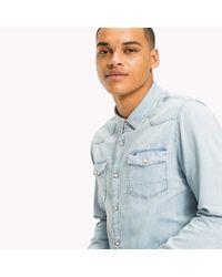 Tommy Hilfiger Blue Denim Regular Fit Shirt for men
