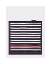 Tommy Hilfiger Blue Stripe Silk Pocket Square for men