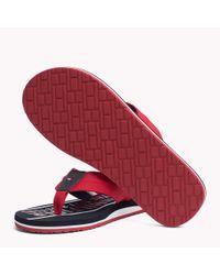 Tommy Hilfiger Red Signature Flip-flops for men