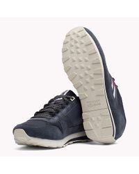 Tommy Hilfiger Blue Retro Suede Trainers for men
