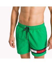 Tommy Hilfiger Green Flag Leg Swim Shorts for men