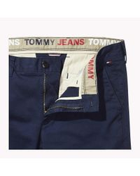 Tommy Hilfiger Blue Fitted Straight Leg Chinos for men
