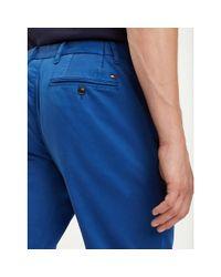 Tommy Hilfiger Denton Straight Fit Garment-dye Chino in het Blue voor heren