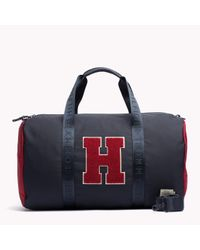 Tommy Hilfiger | Blue Woven Duffle Bag for Men | Lyst