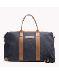 Tommy Hilfiger | Blue Denim Duffle Bag for Men | Lyst