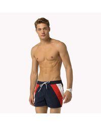 Tommy Hilfiger | Blue Colourblock Swimshort for Men | Lyst