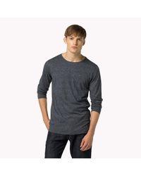 Tommy Hilfiger | Blue Jaspe Jersey Long Sleeve T-shirt for Men | Lyst